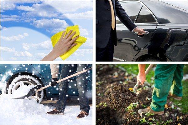 Dienstleistungen Collage - Kirsch Green